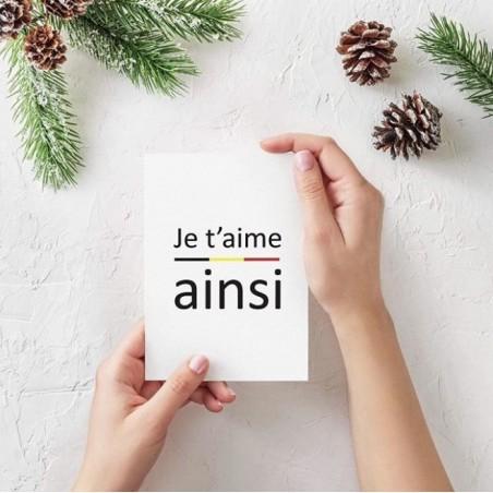 Carte postale Je t'aime ainsi