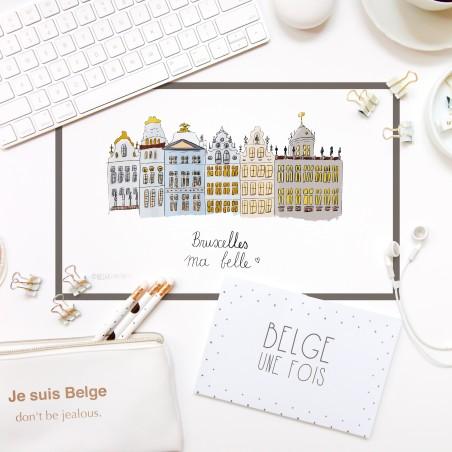Carte postale Bruxelles ma belle