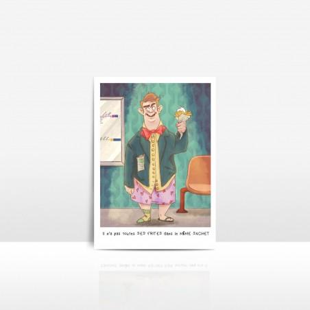 Carte postale Frites
