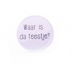 Button Waar is da feestje ?