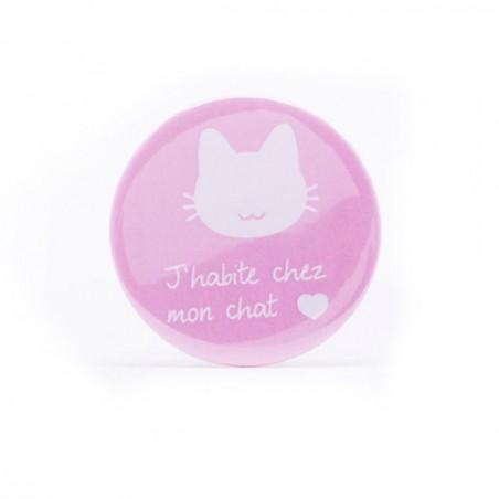 Badge J'habite chez mon chat