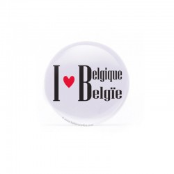 Badge I love Belgique/België
