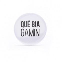 Button Qué bia gamin