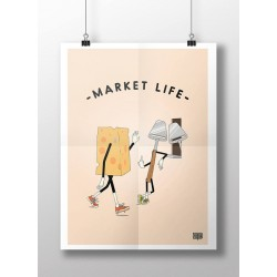 Poster Market Life fromage