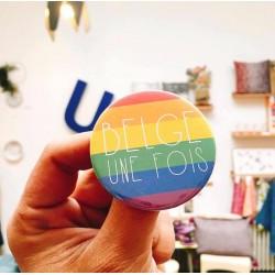 Badge Belge une fois LGBT