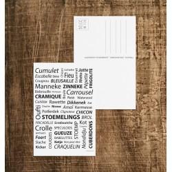Carte postale Belgicismes
