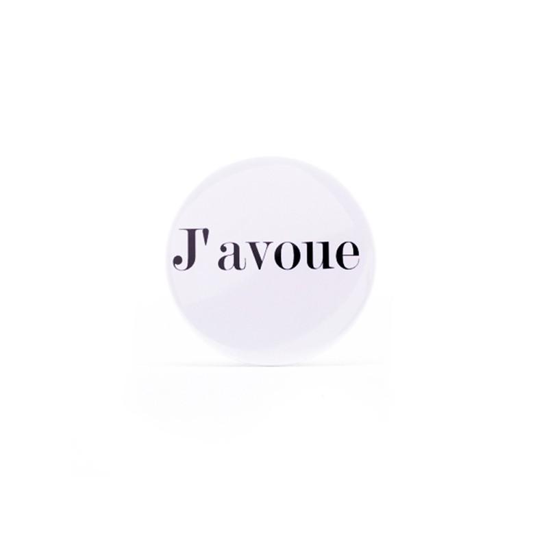 Badge J'avoue