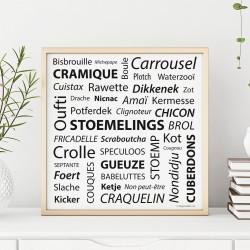 Poster carré Belgicismes
