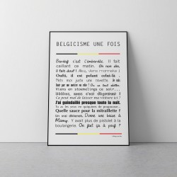 Poster Belgicismes Une Fois