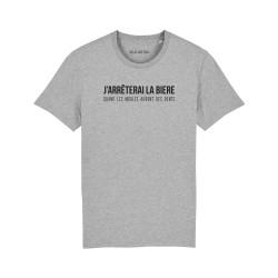 T-shirt j'arrêterai la bière