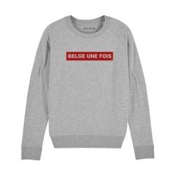 Sweatshirt Belge une fois...