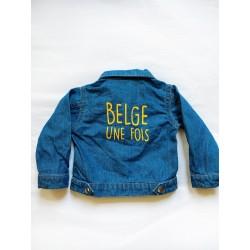 Veste jeans Belge une fois