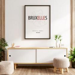 Poster Bruxelles carte