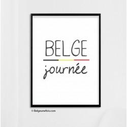 Poster Belge journée