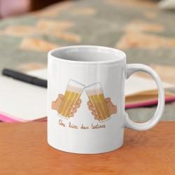 Mug une bière deux tartines
