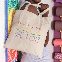 Tote bag Belge une Fois LGBT