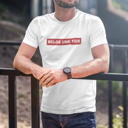 T-shirt Belge Une Fois...