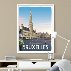 Poster Bruxelles grand place