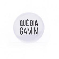 Badge Qué bia gamin